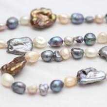 Modeschmuck Barock Süßwasser Perle Halskette (E190026)