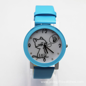 Business Gifts Fashion Leather Watch for Kids