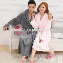 Couples Flannel Fleece Men's Bathrobe made in china