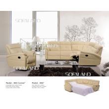 Sofá moderno de couro genuíno (865 #)