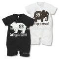2016 summer design elephant baby romper new design short sleeve cotton catoon adult romper pattern
