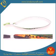 Mais novo personalizado textil pulseiras para brinde promocional (W0065)