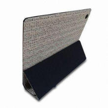 False Straw Leather Case for iPad2, with Eco-friendly Material and Classic Design