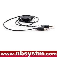3.5mm cable de audio flexible estéreo de audio AUX cable de audio, coche mp3