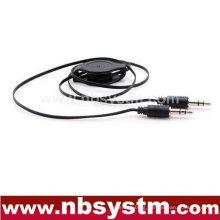 3.5mm stereo flexible audio cable car AUX audio cable, car mp3