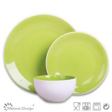Ensemble de dîner en grès vert de haute qualité