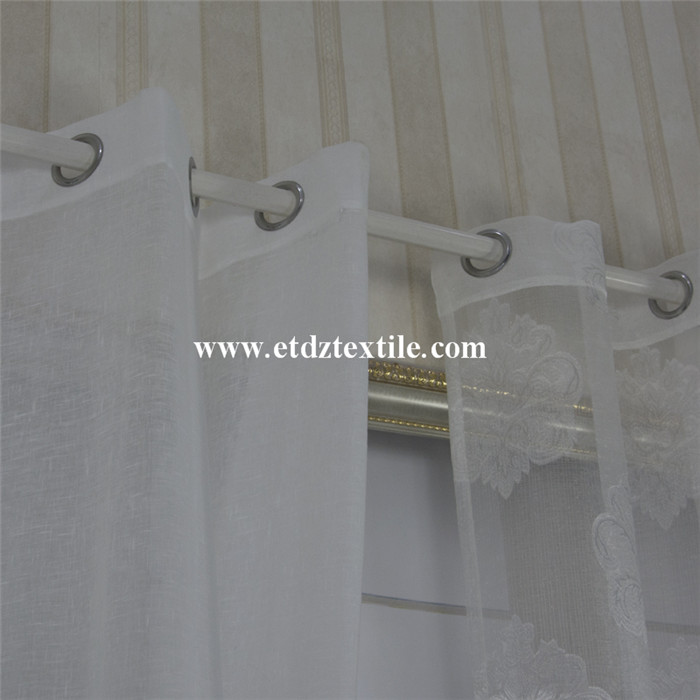 Poliéster Sheer Voile Curtain Fabric