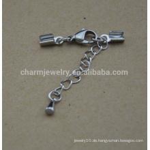 BXG031 Edelstahl Hummer Klaue Schnur Verschluss für Armband DIY Schmuck Entdeckungen & Komponenten