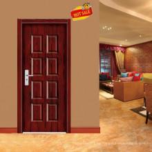 diseño moderno puerta principal de madera lujo