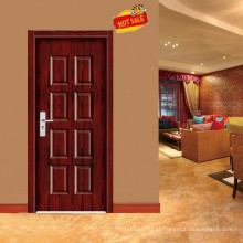 design moderno porta principal de madeira chique