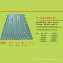 High Quality Semitransparent Roofing Tile Size Detail