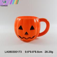 Halloween pumpkin shaped plastic cup