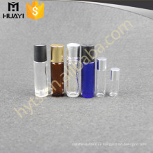 8ml 10ml Wholesale Empty Cosmetic Refillable Blue Colorful Pocket Cream Essential Oil Glass Roll On Bottle With Metal Ball