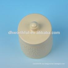 2016 new-design Bote de condimento de cerámica en color crema