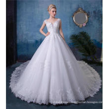 Embroidered Wedding Dress Bridal Gown HA520