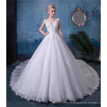 Robe de mariée brodée robe de mariée HA520