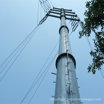 110kV Double Circuit Corner Power Transmission Galvanized Pole