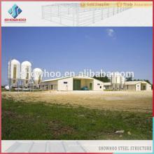 umweltgesteuerte automatische Stahl vorgefertigte Gebäude Geflügel Broiler Haus