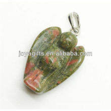 AAA Grade natural unakite angel pendant