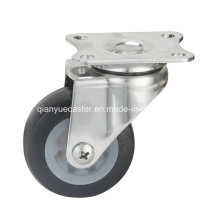 Stainless Steel Light Duty Swivel Castor, TPR Wheel