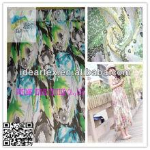 Полиэфирных печатных шифон Yoryu ткань/леди платье