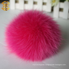 2015 latest design home car accessories 11-12cm wholesale real fox fur ball keychain fur pompom