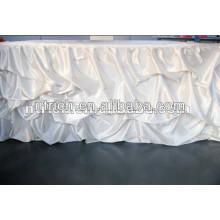 2013 New style 120'' satin ruffled wedding table cloth