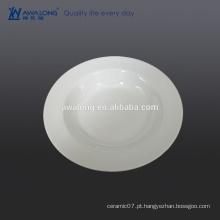 Osso novo Bohemian Branco Rodada 23 centímetros placas de sopa de cerâmica