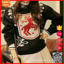 Deer Pattern Women Pullover Negro Ugly Christmas Sweater Design