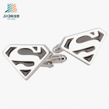 Free Sample Zinc Alloy Enamel Custom Superman Cufflink for Promotional