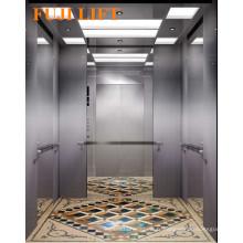 Centre d'ouverture Passager Ascenseur Cheveux en acier inoxydable