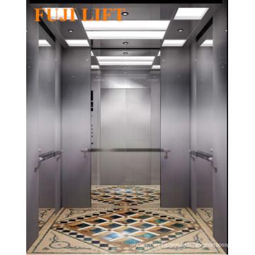 Center Opening Passagier Elevator Hairline Edelstahl