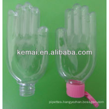 Plastic hand shape bottle