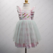 100% cotton fabric one year baby party dress