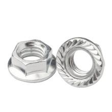 4.8 hex flange nut DIN6923 carbon steel  Hexagon Nuts With Flange