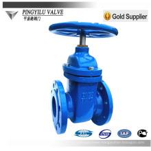 DIN standard PN10 soft sealing cast iron flange gate valve