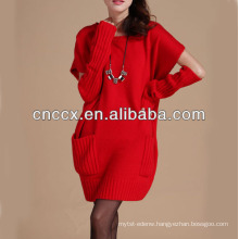 13STC5662 latest design ladies' crewneck women sweater dresses