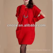 13STC5662 mais recente projeto ladies 'crewneck mulheres camisola vestidos