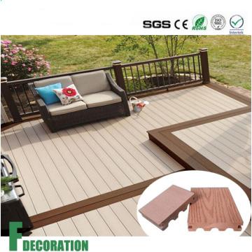 WPC Plastic Wood Composite Outdoor Decking Flooring