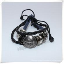 Charm Bracelet, Black Handmade Bracelet, Beads Bracelet (IO-CB157)