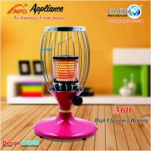 decorative electric room heater with tip-over protection