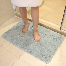 waterproof polyesterf shag area bath rug padding