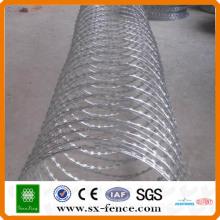 200g / m2 Alta Caliente Dipped galvanizado Concertina Razor Barb Wire Fabricante