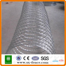 200g / m2 High Hot Dipped galvanizado Concertina Razor Barb Wire Fabricante