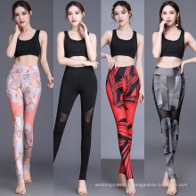 Mesh Yoga leggings with foot strap