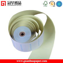 76 mm de largura 2 Ply Carbonless Print Paper Roll