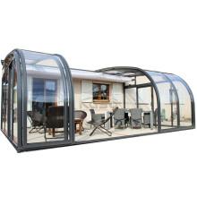 Casa de vidrio de cerramiento de patio retráctil para piscinas
