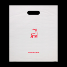 Die Cut Grocery Bags Custom Logo