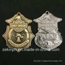 Médaille faite sur commande de laiton en métal d'alliage de zinc de police pour des ventes