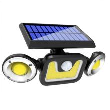 Lâmpadas solares de parede LED para exteriores luz de jardim